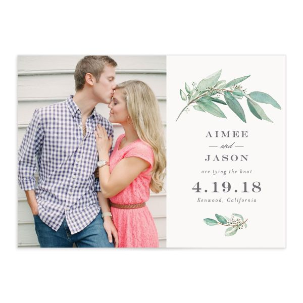 Lush Greenery save the date