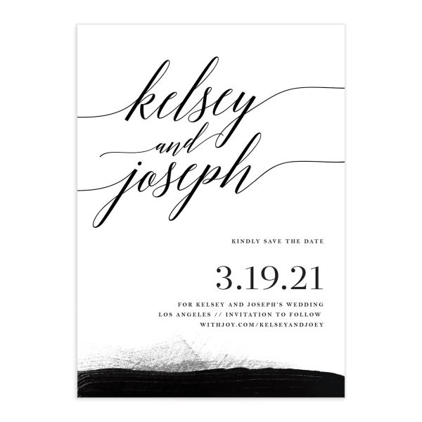 Painted Minimal save the date cards
