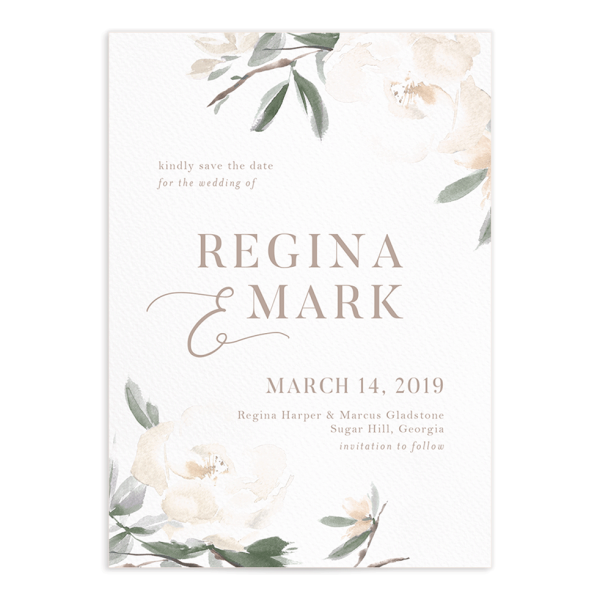 Elegant Garden Save The Date Cards