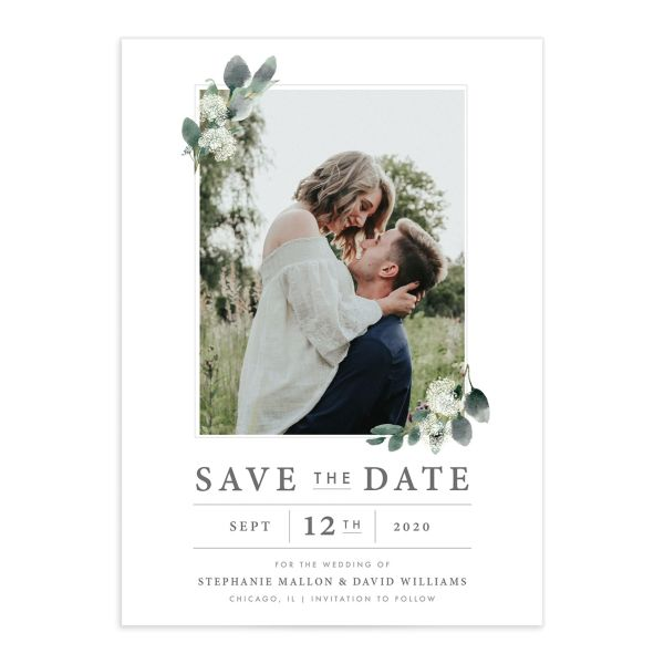 Greenery Branches save the date