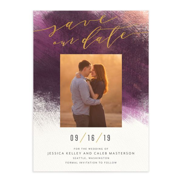 Modern Brush save the date