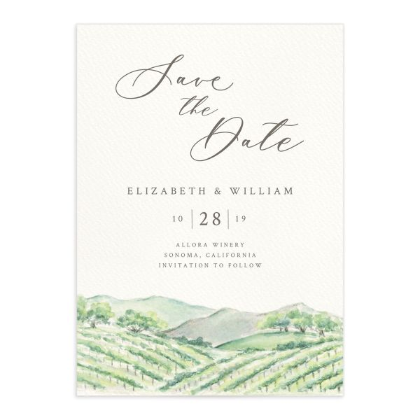 Painted Winery Save The Date Cards