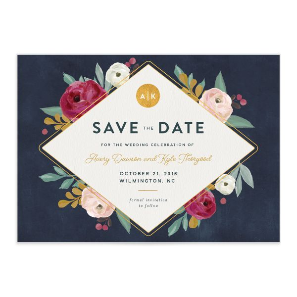 Painterly Blooms save the date