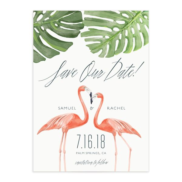 Romantic Palm save the date