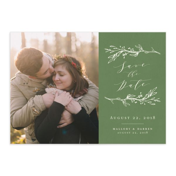 rustic elegance photo save the date cards