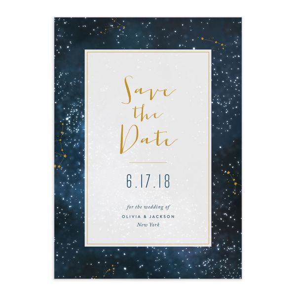 starry night save the date cards