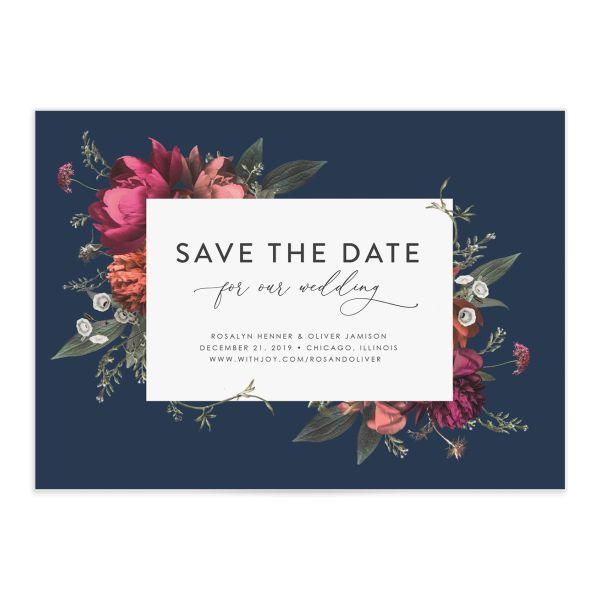 Blooming Botanical Save The Date Cards