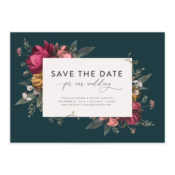 Blooming Botanical save the date front