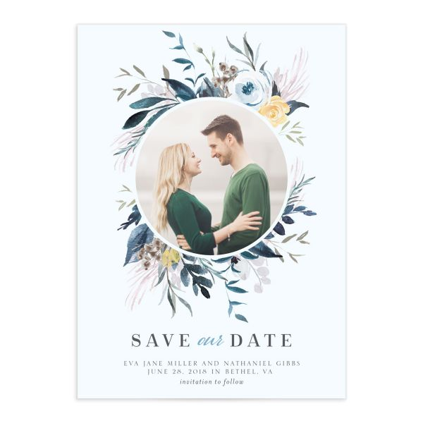 Wild Wreath photo save the dates
