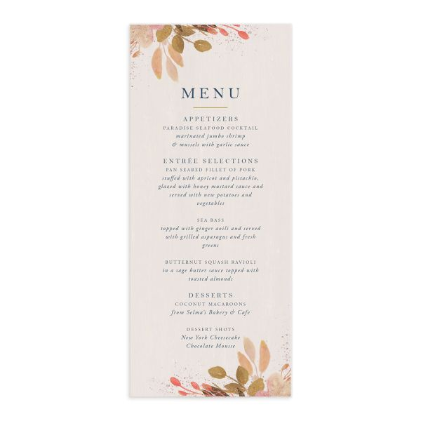 Rustic Leaves Menus