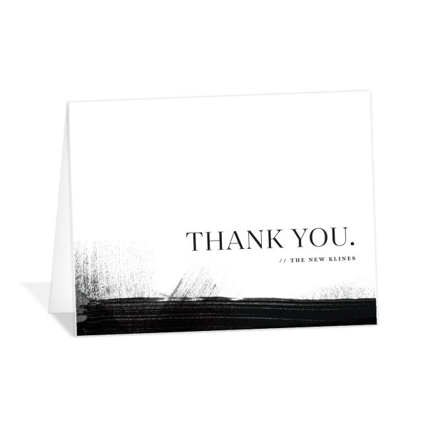 Painted Minima thank you cards in black