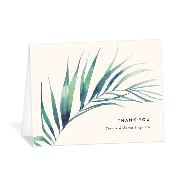 Palm and Protea Thank You Cards