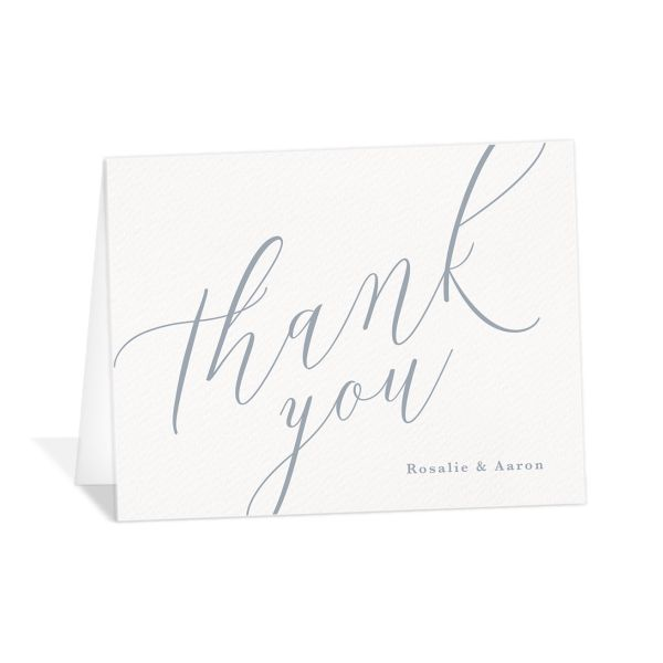 At Last thank you card angled