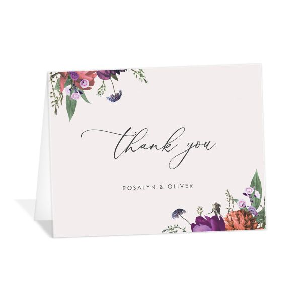 Blooming Botanical thank you card