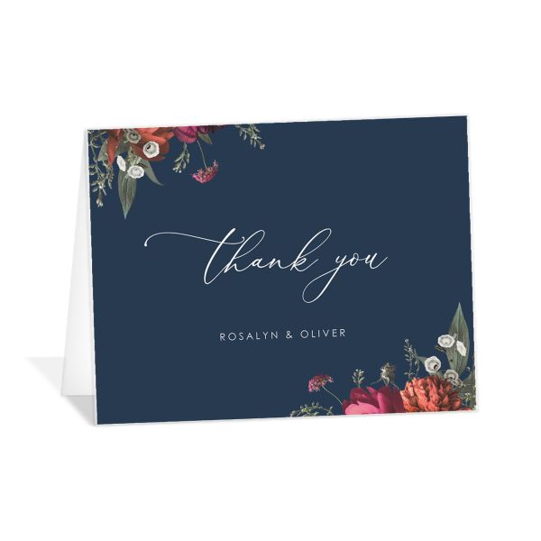 Blooming Botanical Thank You Cards