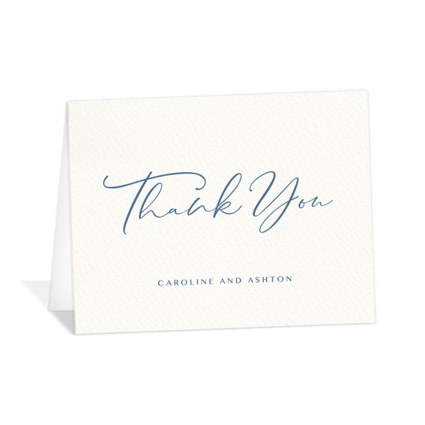 Coastal Love thank you card in blue