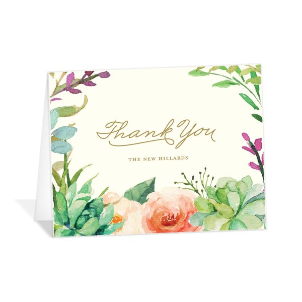 Elegant Oasis Thank You folding cards