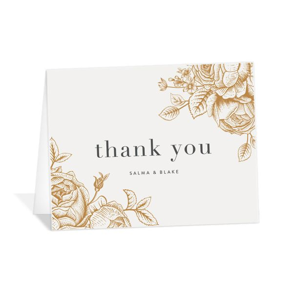 etched botanical thank you cards