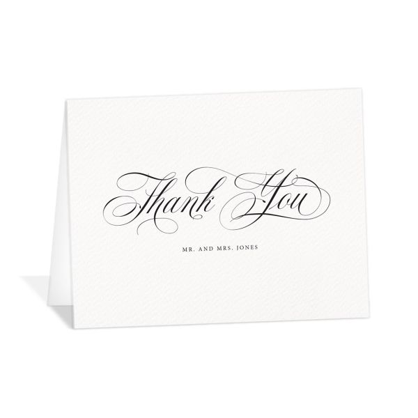 exquisite calligraphy wedding thank you cards