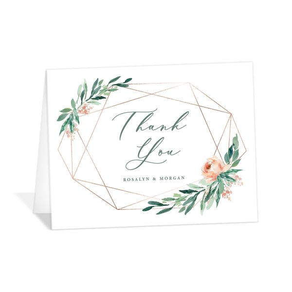 Gilded Botanical thank you card