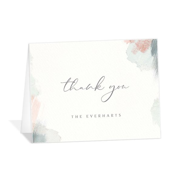 Minimal Brush thank you card green