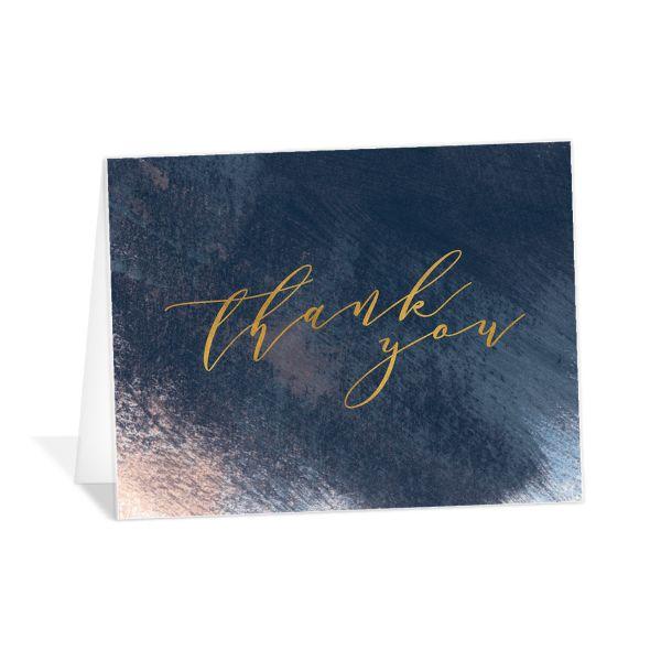 Modern Brushstroke Thank You Cards