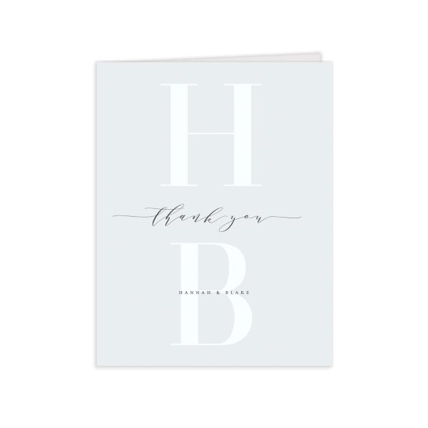 Monogram Wedding Thank You Cards