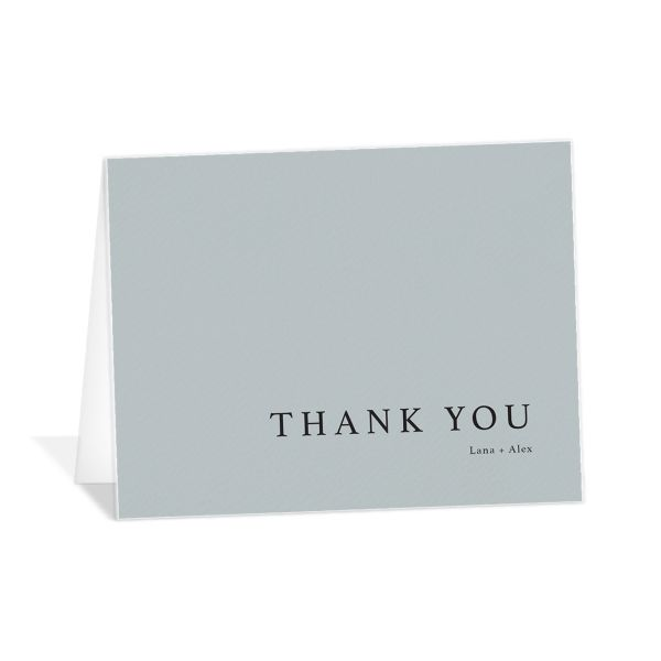 Natural Palette thank you card in blue