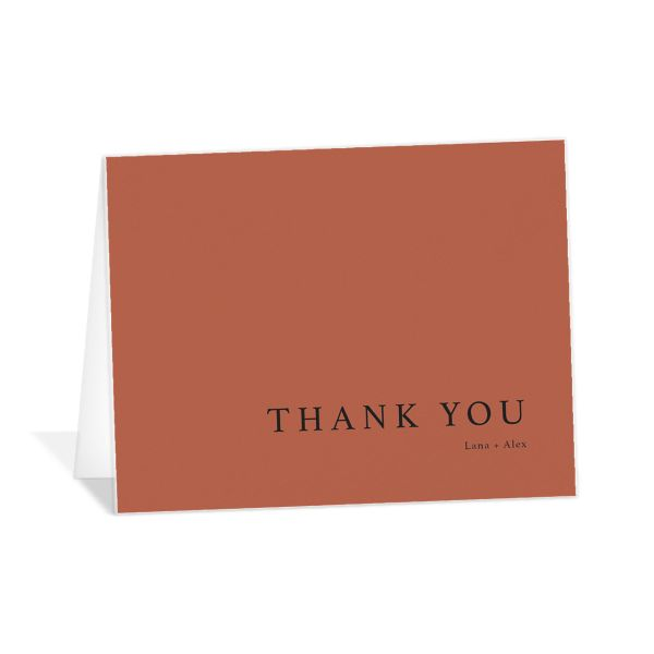 Natural Palette thank you card in pink