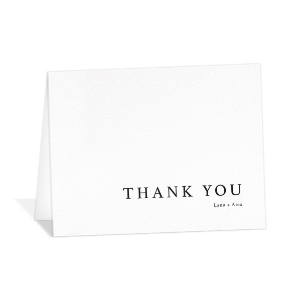 Natural Palette thank you card in white