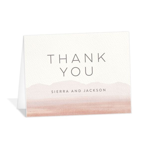 painted desert thank you cards in pink
