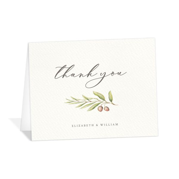 Painted Winery thank you card