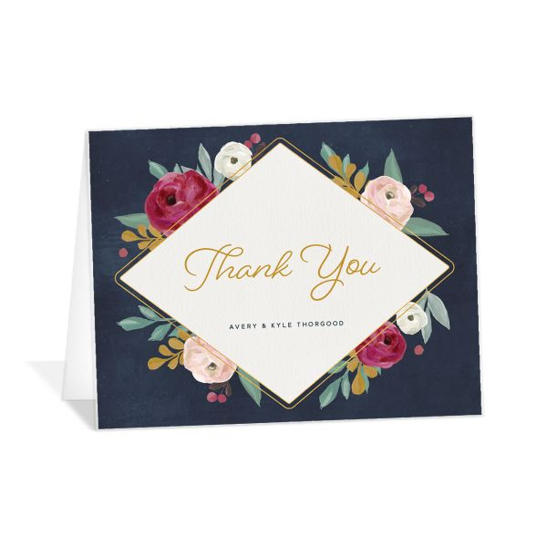 Painterly Blooms Thank You Cards