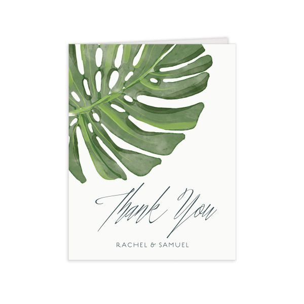Romantic Palm thank you card