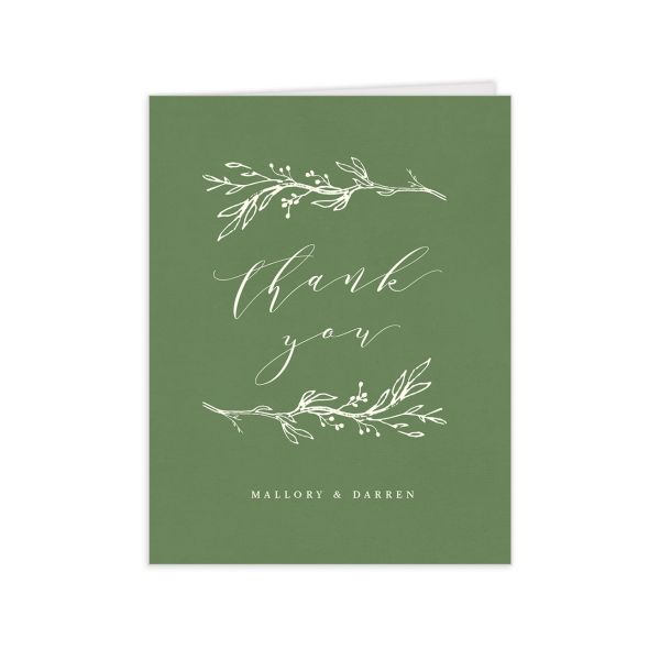 rustic elegance wedding thank you cards