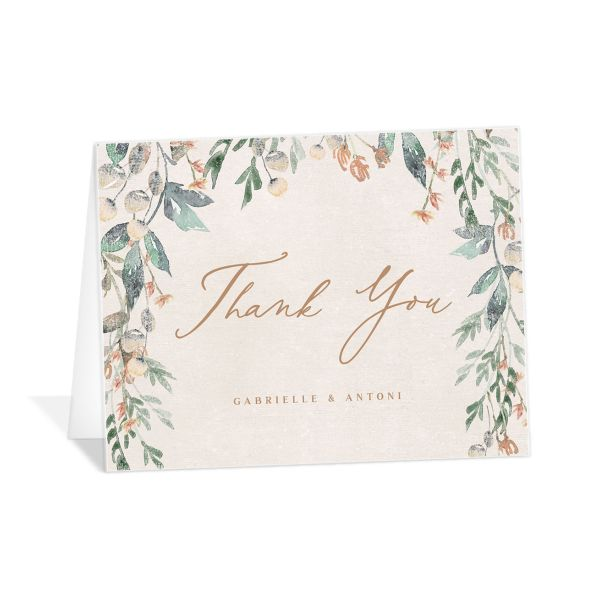 Rustic Vines thank you card