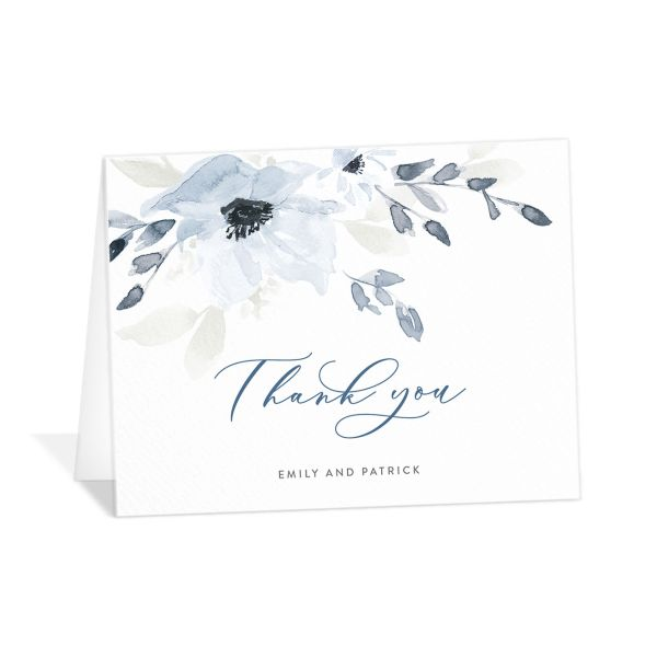 Shades of Blue Personalized Thank You Cards