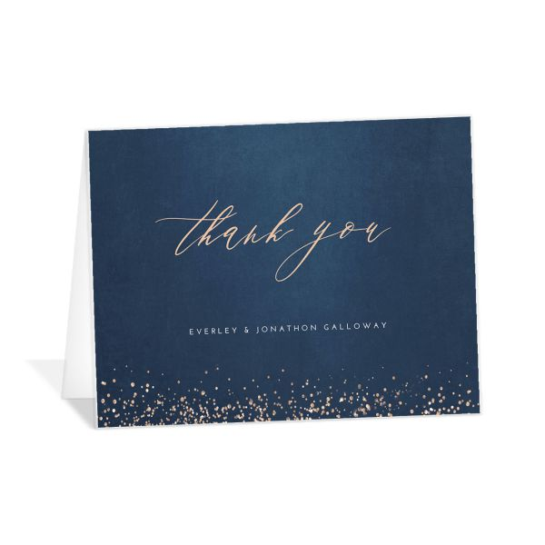 Sparkling Romance thank you card
