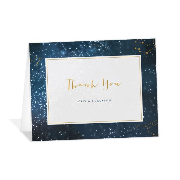 starry night wedding thank you cards