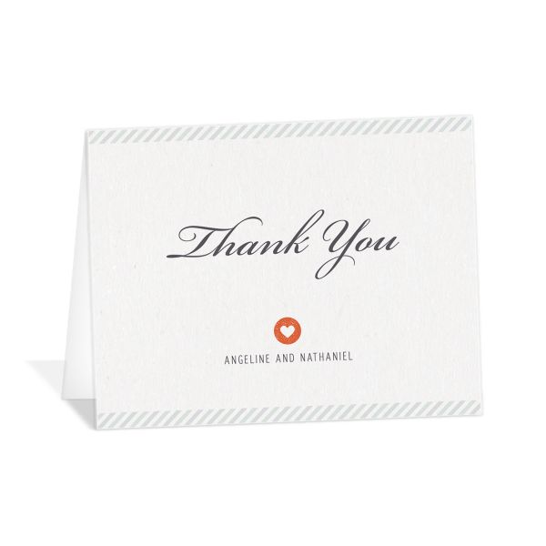 Vintage Boarding Pass thank you card green