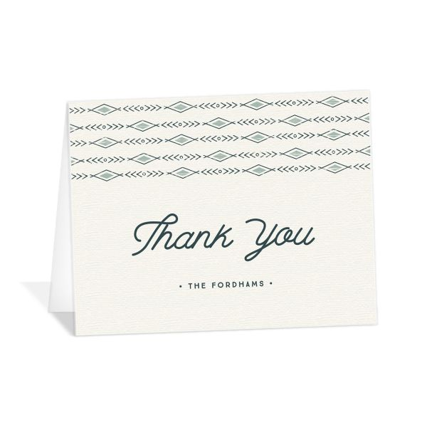 Vintage Mountain wedding thank you cards