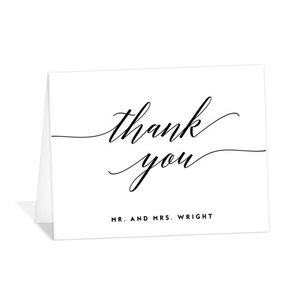 We Do Wedding Thank You Cards in black