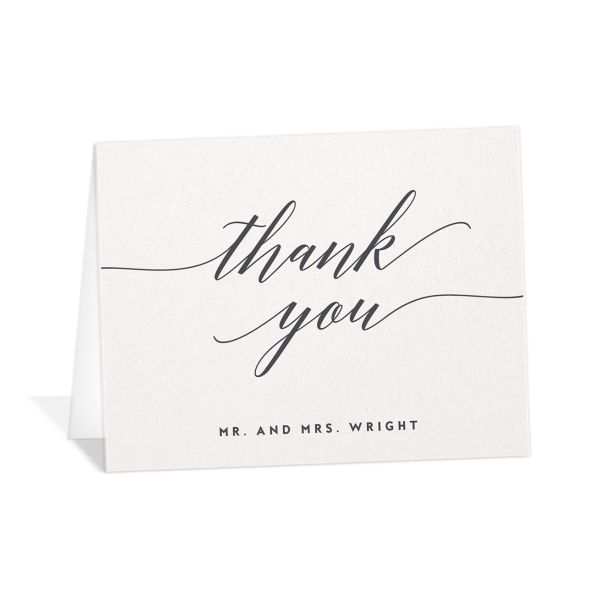We Do Wedding Thank You Cards in grey