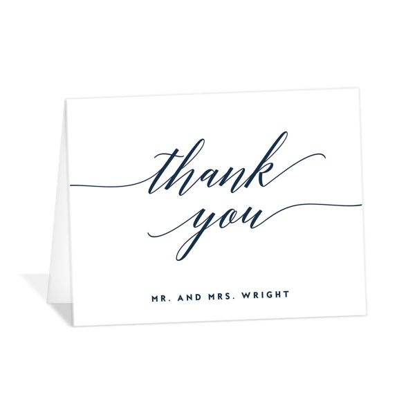 We Do Wedding Thank You Cards in navy