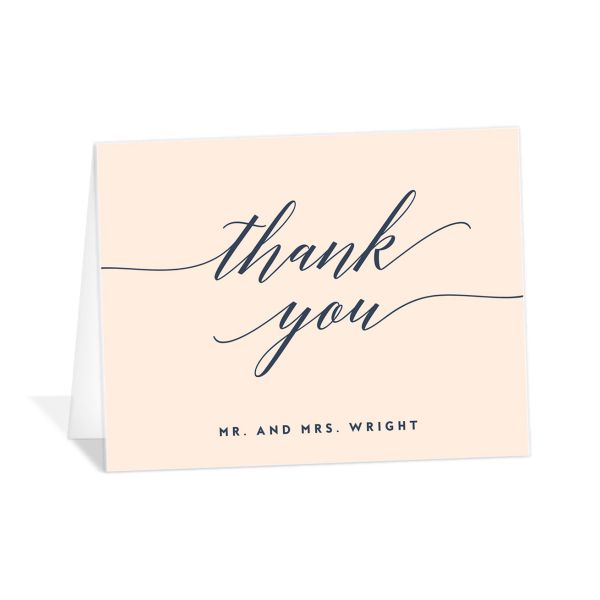 We Do Wedding Thank You Cards in pink