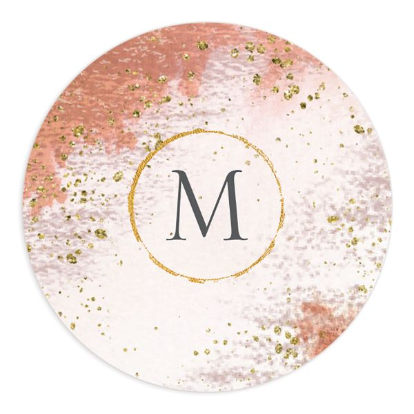 organic luxe wedding stickers in orange