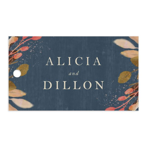 Rustic Leaves Wedding Favor Gift Tags