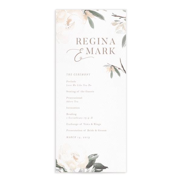 Elegant Garden Wedding Programs