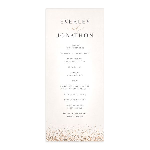 Sparkling Romance wedding program