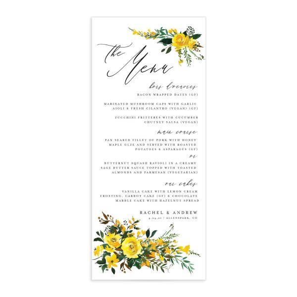 Cascading Altar menus in yellow